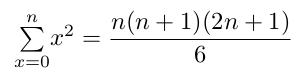 Formule de la série des carrés