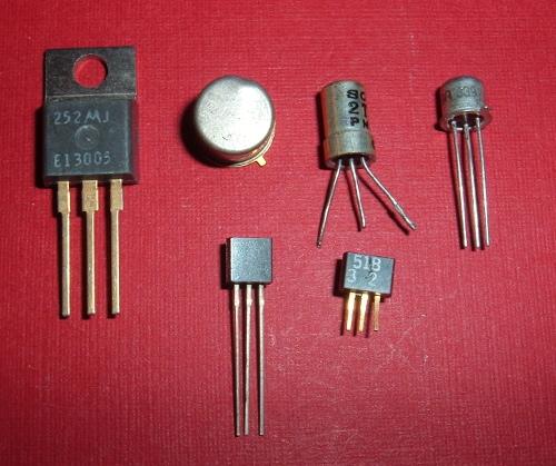 Image montrant plusieurs types de transistors