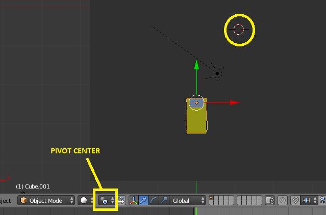 Pivot par rapport au curseur 3D