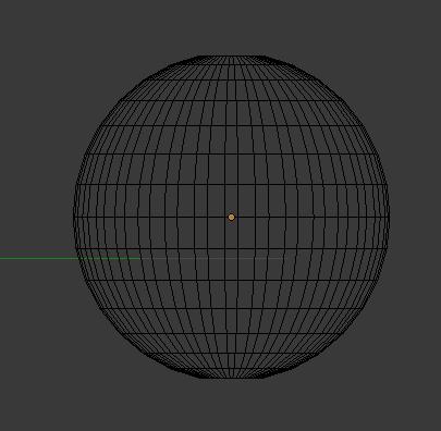UV-Sphere en mode Wireframe