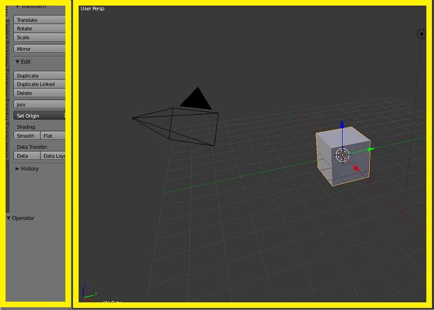 La vue 3D de Blender