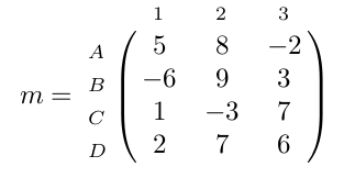 matrice d'entiers