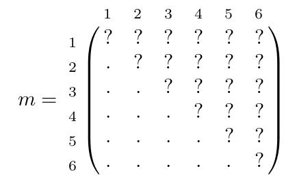 Matrice symétrique q6