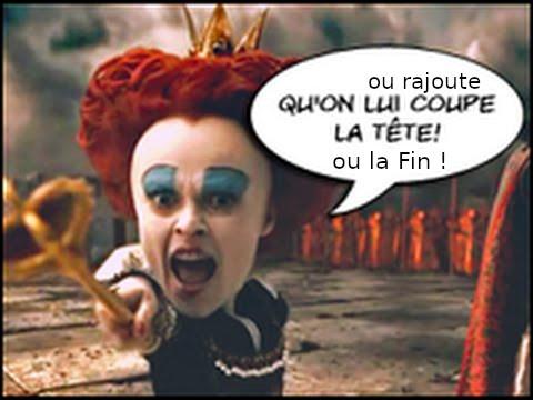 Image tirée du film Alice de Tim Burton