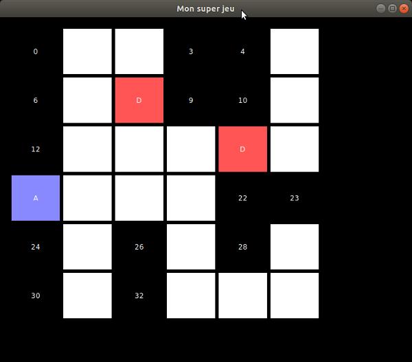 Une application graphique avec des cases colorées
