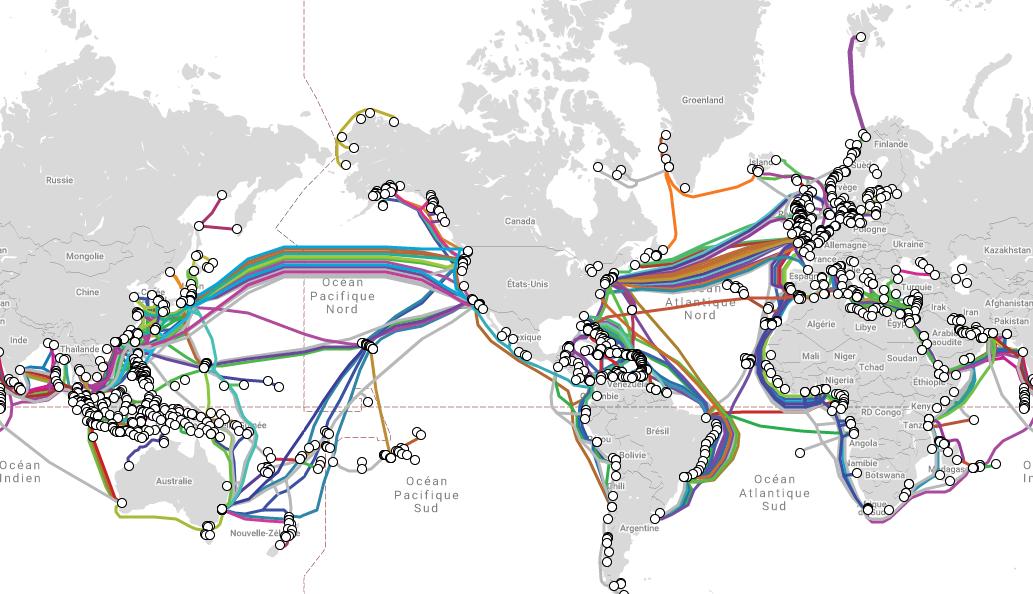 Le réseau mondial de câbles sous-marins