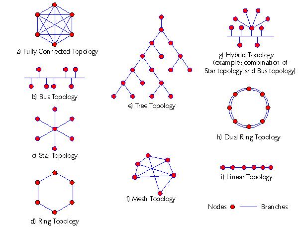 Différentes topologies possibles