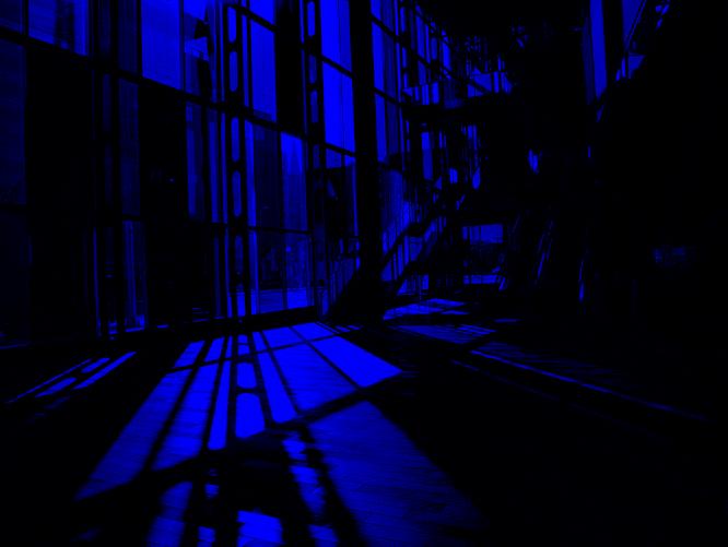 Image avec uniquement la couche Bleue