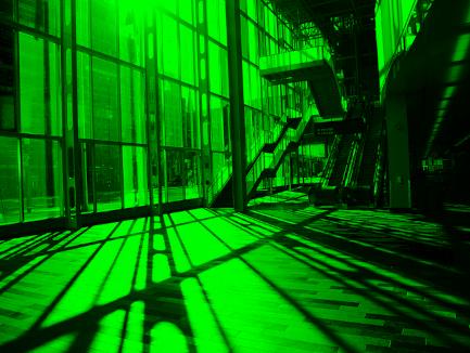 Image avec uniquement la couche Verte