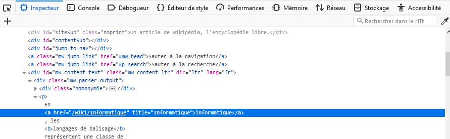 visualisation du code