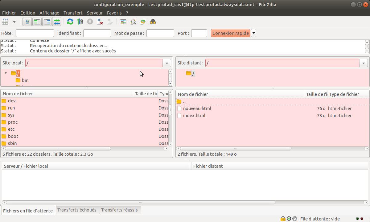 Création d'un compte sur FileZilla 3